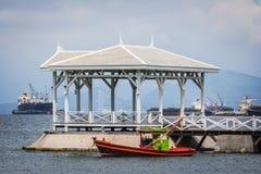 港口Si张海岛的看法 免版税库存图片