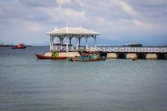 港口Si张海岛的看法 免版税库存照片