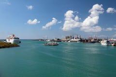 港口Trou Fanfaron 路易斯・毛里求斯端口 库存照片