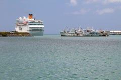 港口Trou Fanfaron 路易斯・毛里求斯端口 免版税库存照片