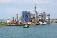 港高加索,俄罗斯- 6月01 2014年:口岸的Servopohony终端 库存图片