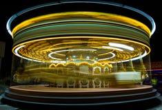 游乐园。 转盘。 免版税库存图片
