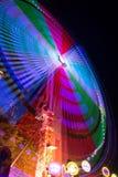 游乐园在夜之前 库存照片