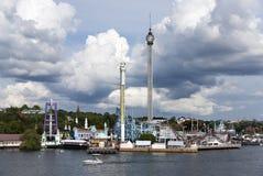 游乐园在斯德哥尔摩 库存照片