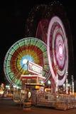 游乐园在晚上之前 库存照片