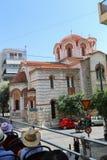 游人享受公共汽车旅行-雅典,希腊 库存照片