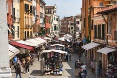 游人人群,威尼斯 免版税库存照片