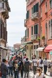 游人人群,威尼斯 免版税库存图片