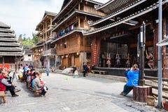 游人和东文化展示在城阳 免版税库存照片