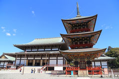 游人和日本走在Naritasan Shinshoji寺庙grou 免版税图库摄影