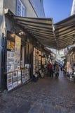 游人和艺术家,魁北克市,加拿大 免版税库存照片