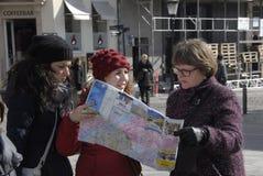 游人在哥本哈根 免版税库存照片