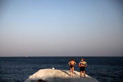 游人在塞浦路斯 库存图片
