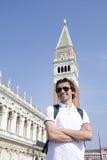 游人在威尼斯,意大利 免版税库存图片