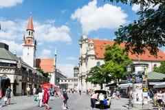 游人在慕尼黑 免版税库存图片