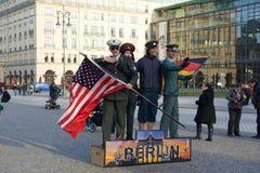游人在柏林 免版税库存照片