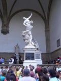 游人在皮亚萨della夫人的佛罗伦萨 免版税图库摄影