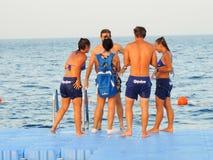 游人在红色海Sharm Elshiekh -埃及享用 库存图片