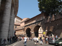 游人在罗马 库存图片