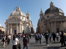 游人在罗马 免版税库存图片