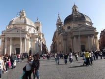 游人在罗马 免版税库存照片