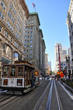 游人在街市的旧金山 免版税库存照片