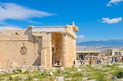 游人在雅典,希腊 库存照片