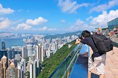 游人在香港 库存照片