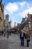 游人在绅士的市中心 免版税库存图片