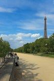 游人在巴黎 免版税库存照片