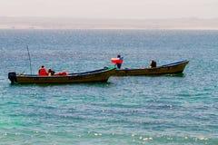 游人在Isla Damas,智利 免版税库存图片