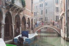 游人威尼斯 免版税库存照片