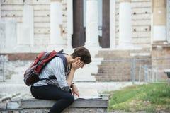 年轻游人意大利 免版税库存图片