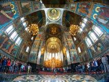 游人救主,圣Petersb的教会溢出的血液的 免版税库存照片