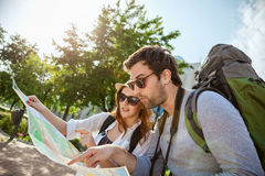 游人观光的城市 免版税库存照片