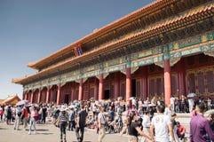 游客旅行北京故宫 库存照片