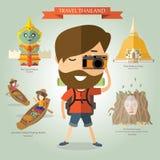 游客旅行向泰国 免版税图库摄影