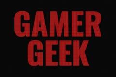 游戏玩家在黑暗的屏幕上的怪杰词 皇族释放例证