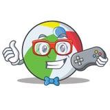 游戏玩家球字符动画片样式 免版税库存照片