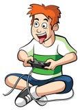 游戏玩家男孩 免版税库存照片