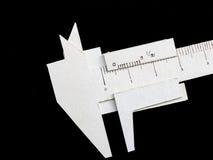 游标卡尺做了形式纸 库存照片