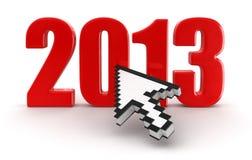游标和2013年(包括的裁减路线) 库存照片