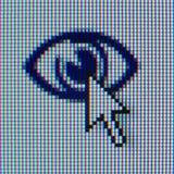 游标图标macrophoto 免版税库存照片