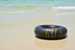 黑游泳圆环 免版税库存图片