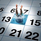 游泳时间 免版税库存照片