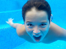 游泳是乐趣!!!! 图库摄影
