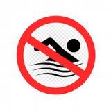 游泳是禁止的标志标志 向量例证