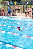 游泳比赛 免版税图库摄影