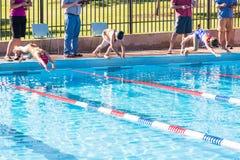 游泳比赛 图库摄影
