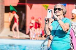 游泳比赛 库存图片